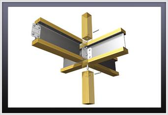 独自のテクノ接合器具による強靭な接合仕様。